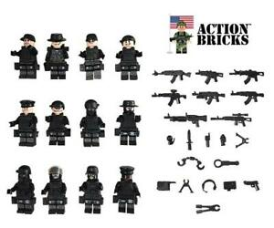 Action-Bricks-City-Police-Army-Minifigure-12-Minifigures-Total-SWAT
