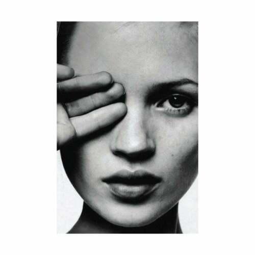Kate Moss Hand over Eye Fashion Print Scandinavian Art Print Scandi Unframed