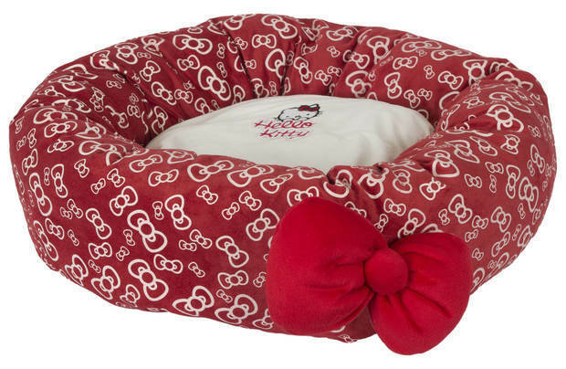 Hello Kitty Bowtastic Donut Pet Dog Bed RETURNS