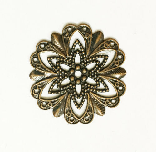 10 stamping flower connector,brass filigree focal 20mm  available  5 colors