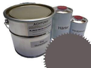 3 Liter Set 2K Floor Coating Ral 7039 Quartz Grey Shine Floor Color Workshop