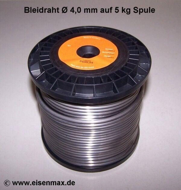 Bleidraht ø 4 mm auf 5 kg Spule Bleiprofil Bleigewicht  Bleistange Walzblei Blei  | Kaufen