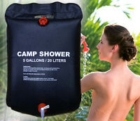 20L Portable Solar Energy Heated Shower Outdoor Camping Hiking Camp Pipe PVC Bag
