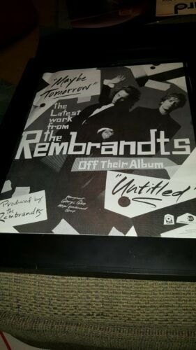 The Rembrandts Maybe Tomorrow Rare Original Promo Poster Ad Framed!