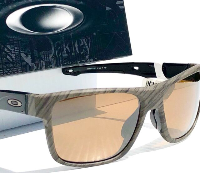 74372752aef NEW  Oakley Crossrange MIX Woodgrain POLARIZED Tungsten PRIZM Sunglass  9367-07