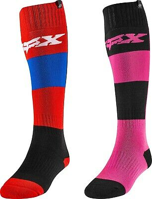 Fox Racing Womens MX Flame Red//Black Dirt Bike Socks Motocross ATV MX