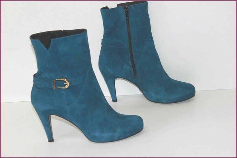 BUFFALO LONDON Bottines à Talons Nubuck azul Iris T 38 TTBE