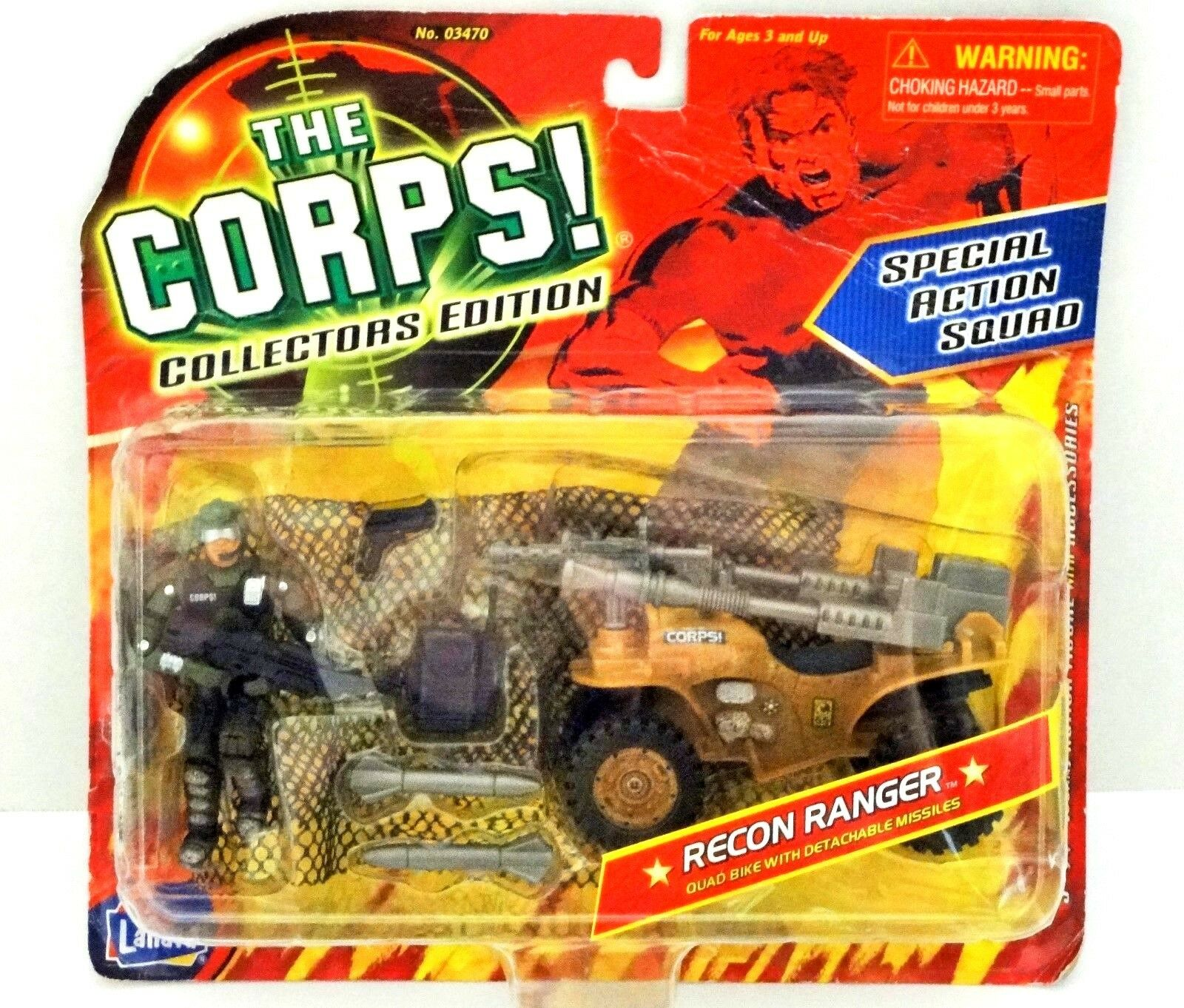 The CORPS CORPS CORPS Special Action Squad Recon Ranger Collectors Edition Quad Bike Missile f3bc5c