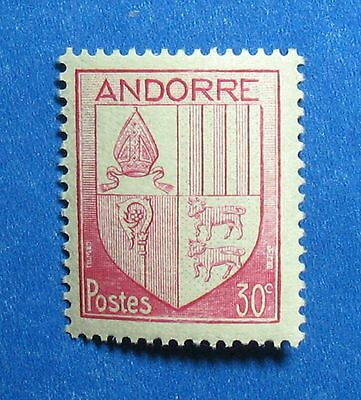 1944 Andorra French 30c Scott# 79 Michel # 96 Unused Nh Cs27335 Durable In Use Stamps