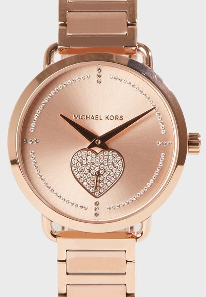 Michael Kors MK 3827 Portia Pave Rose Gold Tone Ladies Watch for sale  online  410acc12b7e0
