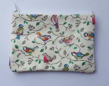 Cath Kidston Bright Little Birds Fabric Handmade Zippy Coin Purse Storage Pouch