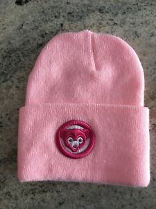 fa903f5c099057 New womens retro pink Chicago Cubs winter knit hat ladies girls ...