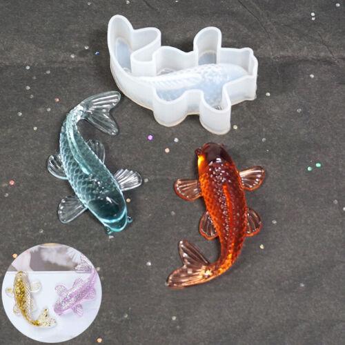DIY Crafts Decorative Resin Goldfish Silicone Mold  Pendant Making Mould