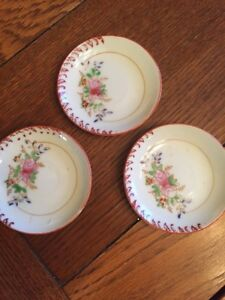 Vintage 3 Inch China Plates Painted Set Of 3 Ebay