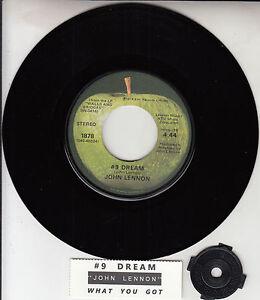 JOHN-LENNON-9-Dream-amp-What-You-Got-BEATLES-7-034-45-rpm-vinyl-NEW-juke-strip