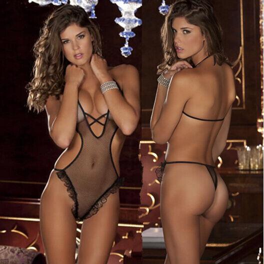 Women Black Sexy Lingerie Lace Nightwear Underwear Sleepwear Babydoll G-String