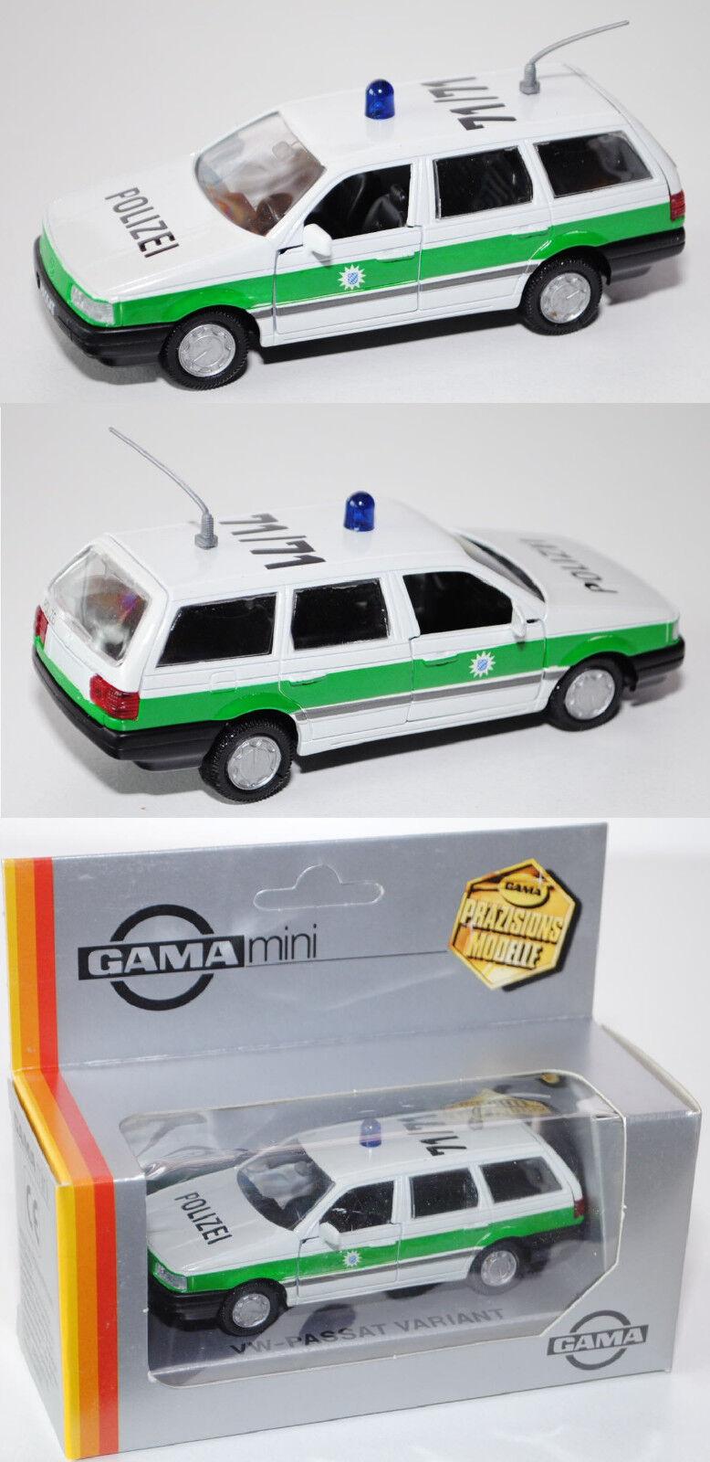 GAMA 1143 VW Passat CL Variant Police (b3, Type 35i), police 71 71, 1 43 neuf dans sa boîte