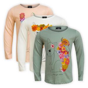 Girls-Crew-Neck-Cotton-T-shirt-Kids-Children-Long-Sleeve-Casual-Top-Sweatshirt