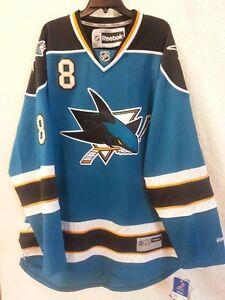 babc74cbd Reebok Premier NHL Jersey San Jose Sharks Joe Pavelski Teal sz 3X ...