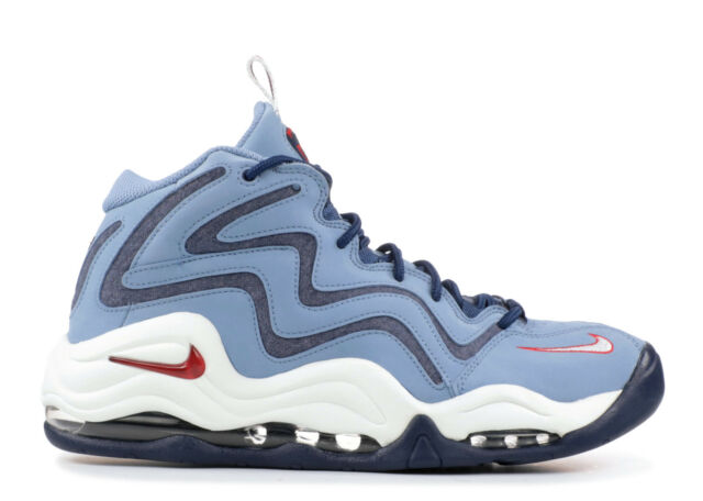 Nike Air Pippen Mens 325001-403 Work Blue Red White Basketball Shoes Size 8 35e2b3c928f6