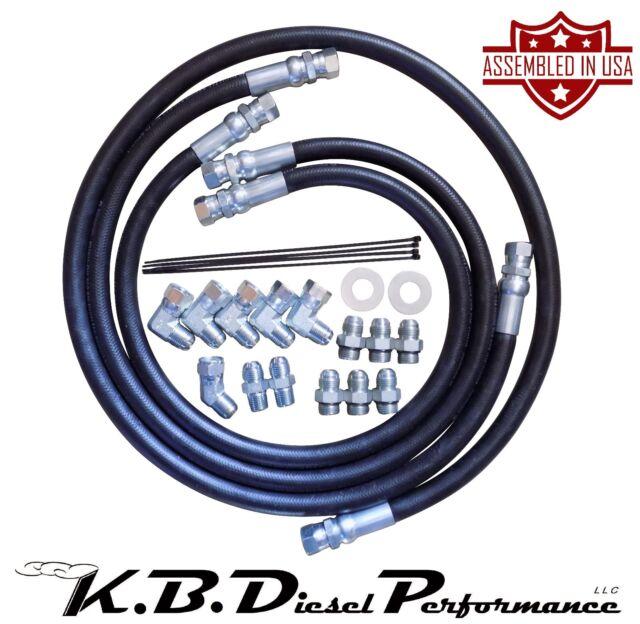 5/8 6000 PSIB Allison Transmission Cooler Lines 01-10 6 6l Duramax w/  Adapters