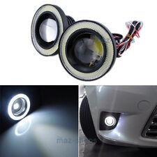 """2Pcs Xenon White 3.5"""" Angel Eye Ring + Front Fog Lamp DRL Daytime Running Light"""