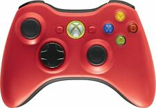 GENUINE Microsoft XBox 360 RED/Black Wireless Controller game gaming NEW-Case