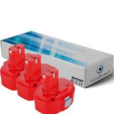 Lot de 3 batteries type PA14 pour MAKITA 3000mAh 14.4V - Société Française -
