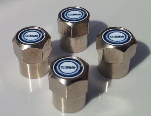 Mini Clubman Cromo Aleación Neumático Tapas De La Válvula para Válvulas de Neumáticos