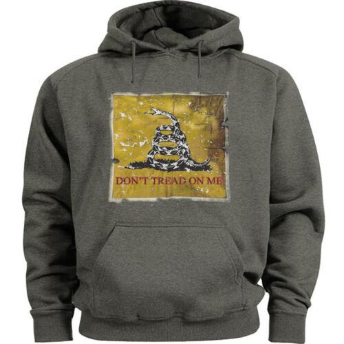 Don/'t tread on me sweatshirt hoodie Men/'s size hooded sweatshirt Gadsden flag
