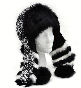 Winter-Women-Real-Fur-Earflap-Hat-Trapper-Aviator-Trooper-Warm-Russian-Ushanka