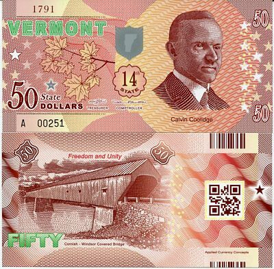 USA INDIANA 50 DOLLARS 2016 STATE 19TH POLYMER INDIANA P NEW WILBUR WRIGHT