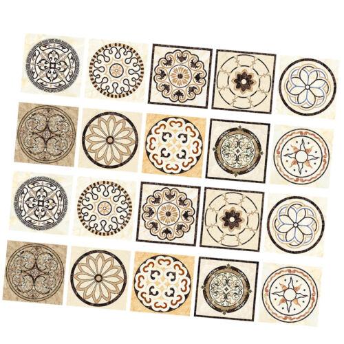 20Pcs Retro Style Self Adhesive Tile Wall Stickers PVC Tile Decals DIY Decor