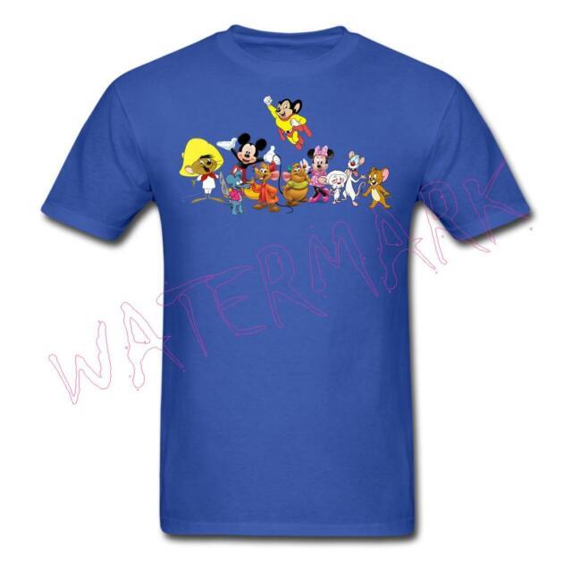New Men/'s Med Pinky And The Brain Nickelodeon Cartoon Lab Mice Genius Tee Shirt