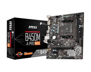 Msi-B450M-A-Pro-Max-Matx-Carte-Mere-pour-Amd-AM4-Processeurs