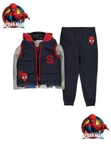 Set Daunenjacke+T-Shirt+Jogging Junge Offiziell Spiderman Des 2 Jahre Au 10
