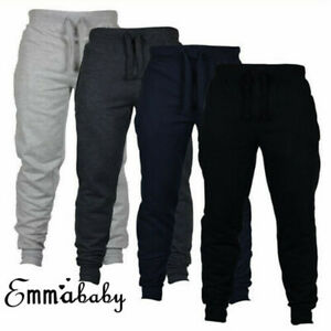 AU-Men-039-s-Sport-Long-Trousers-Tracksuit-Fitness-Workout-Joggers-Gym-Sweatpants