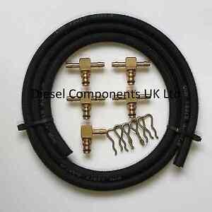 Leak Off Connectors & Hose Kit for Bosch Injectors 5 Cylinder