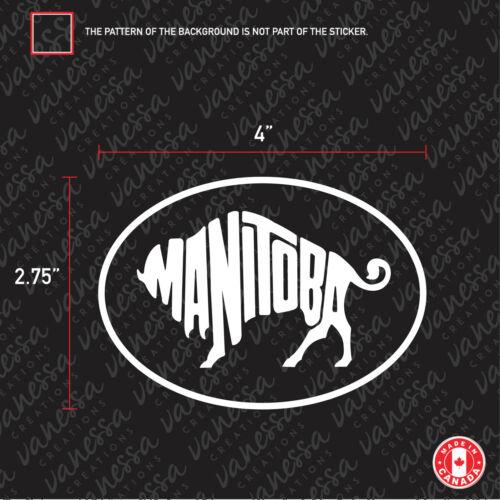 2x MANITOBA CANADA sticker vinyl car decal