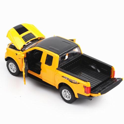 1//32 Ford Raptor Diecast Car F150 Mini Alloy Vehicle w//Sound/&Light/&Back Power