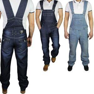 McCarthy-Pantalones-Vaqueros-Hombre-Denim-Lightwash-Dark-Wash-Peto-Azul-Tamano-King-Mono