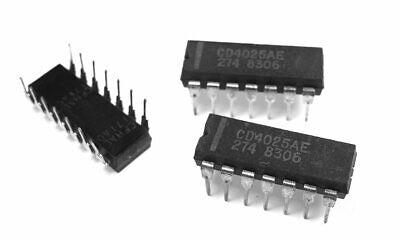 20pcs CD4025 4025 CD4025BE 4000 CMOS Triple 3-Input NOR Gate NSC//mot//TI DIP-16