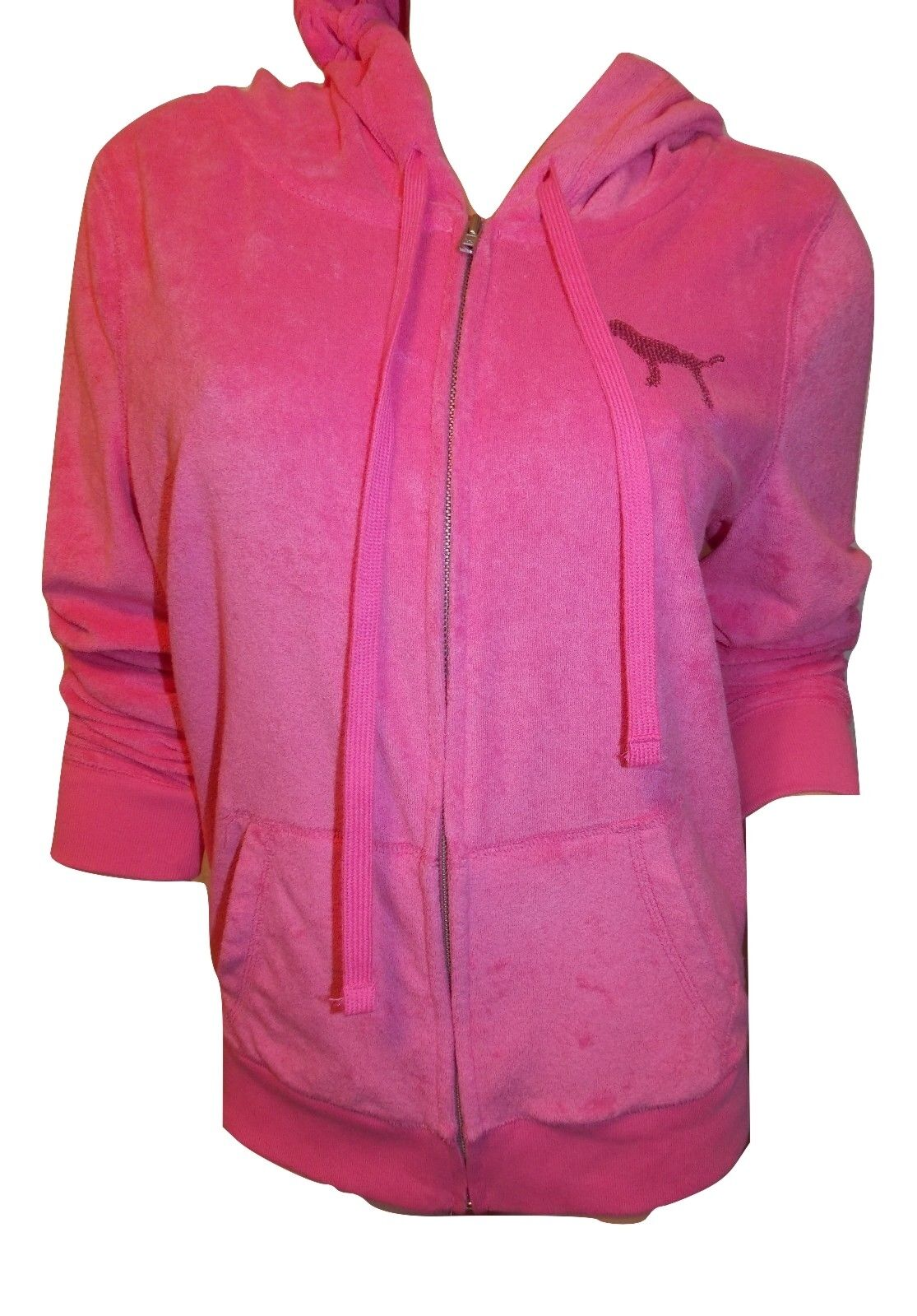 Victoria's Secret Pink Pink Pink NWT Soft French Terry Full Zip Hoodie color Pink Large d3801b