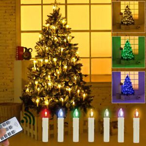 Weihnachtsbaum Mit Beleuchtung.Details Zu 50 Kabellose Led Weihnachtskerzen Weihnachtsbaum Beleuchtung Kerzen Lichterkette
