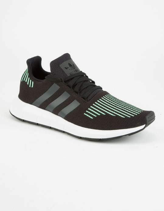 ADIDAS Swift Run Men's Shoes, Black/Green, Comfortable Comfortable and good-looking