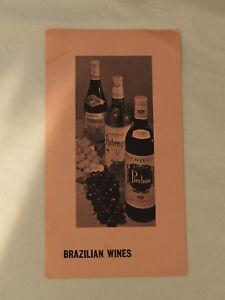 Vintage BRAZILIAN WINES Tourist Brochure by Brazilian Trade bureau New York 1961