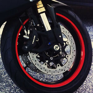 ANY COLOR CUSTOM MOTORCYCLE RIM WRAP WHEEL DECALS STRIPES STICKERS - Vinyl stripes for motorcyclesreflective gold rim wheel tape stickers vinyl decals ebay