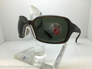 dc63ff36a3c NEW RAY BAN RB 4068 894 58 MATTE HAVANA GREEN POLARIZED SUNGLASSES ...
