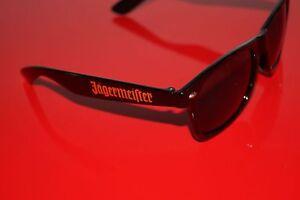 3x-Jaegermeister-Sonnenbrillen-getoent-schwarz-Nerdbrille-NEU-OVP