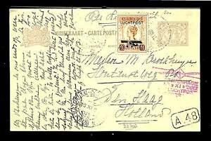 DUTCH INDIES -1928-11-2 CV -AIRMAIL -PROPELLOR ST. --- F/VF